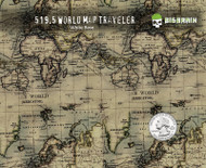 World Map Traveler Traveller Country Countries Topography Big Brain Graphics Hydrographics Supplies Seller Buy USA White Base Quarter Reference