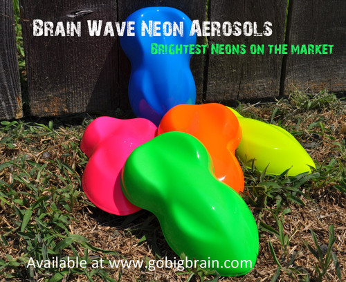 Big Brain Graphics Neon Brightest Neon Paints Aerosol Paint Hydrographics Solvent Paint Blue Pink Green Orange Yellow