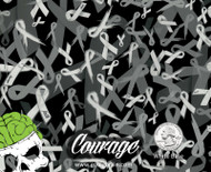 Courage Black Clear Ribbons Donation Film for a Cause Testicular Brain Cervical Melanoma Breast Support Faith Courage Hope Big Brain Graphics Hydrographics Quarter Reference