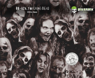 Walking Dead Zombies Hydrographics Pattern Evil Big Brain Graphics White Base Quarter Reference