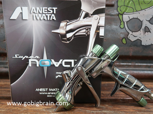Anest Iwata Official Dealer Paint Guns Supernova Clear Extreme Gun Big Brain Graphics Coatings Hydrographics industry and more With Box Standing