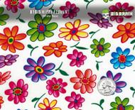 Hippy Hippie Flowers Flower Hydrographics Pattern Film Big Brain Graphics White Base Quarter Reference