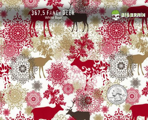 Fancy Deer Christmas Hydrographics Pattern Film Big Brain Graphics USA Seller Buy Film White Base Quarter Reference