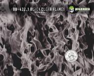 Flames Black Clear - 432.1 (100 CM)
