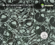 Headache White Line Skulls Hydrographics Film Big Brain Graphics Patterns Pattern Black Base Quarter Reference