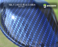 Carbon Candied blue Carbon Fiber Hydrographics Film Pattern Dip Film Big Brain Graphics Trusted USA Seller Black Base