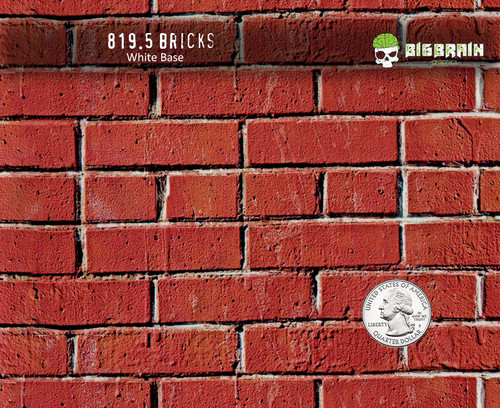 Red Brick Brick Wall Hydrographics Detailed Film Pattern Big Brain Graphics Trusted USA Seller Supplier White Base Quarter Reference