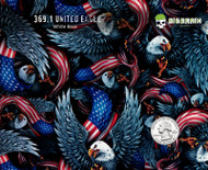 United Eagle USA American Pride Hydrographics Realistic Color Film Pattern Big Brain Graphics USA Trusted Seller White Base Quarter Reference