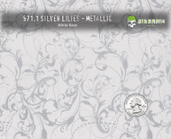 Silver Lilies Classy Classic Girly Woman Pattern White Base Big Brain Graphics Quarter Reference