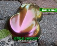 Devil's Advocate Mega Shift Intense Glitter Chameleon Paint High Quality Big Brain Coatings Graphics Extreme Shift Big Brain Graphics Rear Top