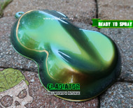 Gladiator MegaMorph Intense Color Shift Chameleon Big Brain Graphics Paint Base Coat Clear Coat Big Brain Coatings Automotive Paint Mega Shift Rear