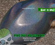 Holographic Color Shift Chameleon Paint Colorful Rainbow Pixie Dust Unicorn Dust Big Brain Coatings Big Brain Graphics Single Stage Paint Base Coat Clear Coat Sunshine Color Close