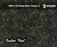 Custom Printed Design 3D Etched Metal Hydrographics Print Dip Film Big Brain Graphics (11) Brushed Bronze Patina 2