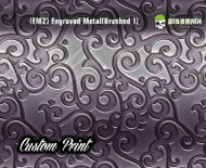 Engraved 3D Metal Etched Detailed Hydrographics Dip Pattern Big Brain Graphics Custom Print Printed Dip Film Nickel
