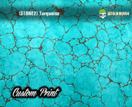Turquoise and Stone Mineral Custom Film Print Big Brain Graphics Hydrographics Film Trusted USA Seller