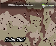 Chocolate Chip Camo Brown Green (CCC1) Military Camo Camoflauge Big Brain Graphics Custom Printed Film