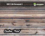 Old Rustic Barnwood 4 (OB17) Barn Wood Tattered Knotty Aged Hydrographic Film Hydrographics Custom Printed Film Big Brain Graphics