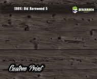 Old Rustic Barnwood 5 (OB9) Barn Wood Tattered Knotty Aged Hydrographic Film Hydrographics Custom Printed Film Big Brain Graphics