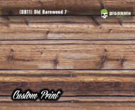 Old Rustic Bardwood 7 (OB11) Decking Brown Grey Knotty Boards Custom Printed Hydrographic Hydrographics Dipping Film Big Brain Graphics