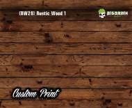 Old Rustic Wood Realistic Woodgrain Rustic Wood 1 (RW29) Hydrographics Custom Printed Hydrographic Film Big Brain Graphics