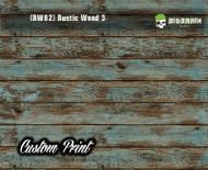 Old Rustic Wood Realistic Woodgrain Rustic Wood 3 (RW82) Green Painted Deck Hydrographics Custom Printed Hydrographic Film Big Brain Graphics