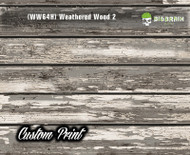 Old Rustic Weathered (WW64H) Horizontal Wood Realistic Woodgrain Multi Color Painted Deck Hydrographics Custom Printed Hydrographic Film Big Brain Graphics