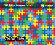 Autism Awareness Puzzle (AA1) Colorful Hydrographics Custom Film Printed Custom Hydrographic Big Brain Graphics
