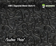 Etched Metal Dark 4 Custom Printed Design 3D Detail (EM1) Metal Hydrographics Print Dip Film Big Brain Graphics Brushed Bricks Metal
