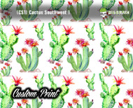 Cactus Southwest (CS1) Custom Film Pattern Hydrographics Dipped Hydrographic Film Pattern Girly Popular Trendy Big Brain Graphics Customs