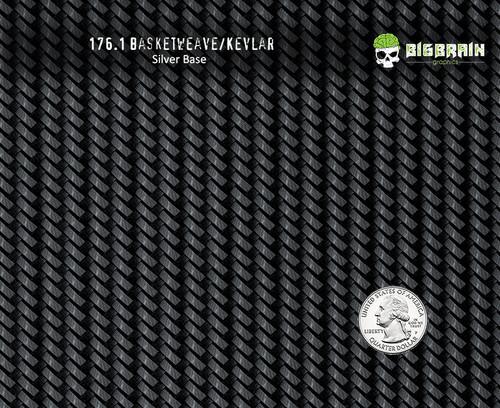 Basketweave Basket Weave Kevlar 176 Carbon Fiber Hydrographics Pattern Big Brain Graphics Supplier Silver Base Quarter Reference
