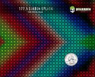 Splash Carbon Fiber Colorful Hydrographics Film Green Pink Red Blue Trusted USA Seller Big Brain Graphics White Base Quarter Reference