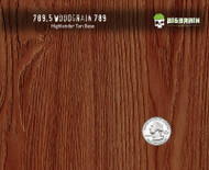 Straightgrain Woodgrain 789 Detailed 3D Wood Big Brain Graphics Hydrographics Pattern USA Seller High Quality Highlander Tan Base Quarter Reference