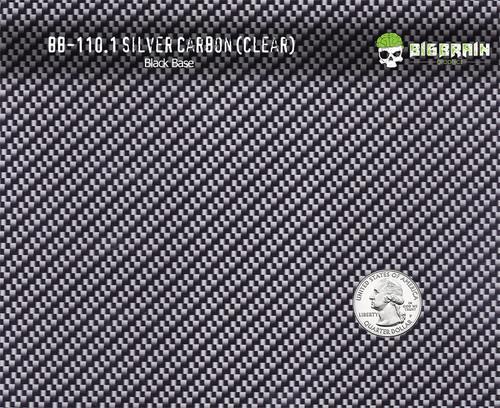 Metallic Silver Clear Carbon Fiber Rope Checks Hydrographics Pattern Black Base Big Brain Graphics Film Buy Quarter Reference