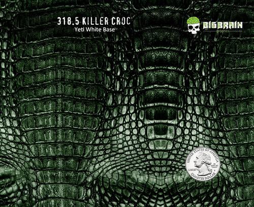Killer Croc Crocodile Reptile Alligator Skin Pattern Big Brain Graphics Hydrographics Film Dip Hydrographic Pattern USA Seller Yeti White Base w/Quarter Reference