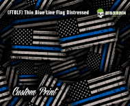 Thin Blue Line Distressed Flag Hydrographics Hydrographic Dip Film Big Brain Graphics Custom Film Print Buy Film
