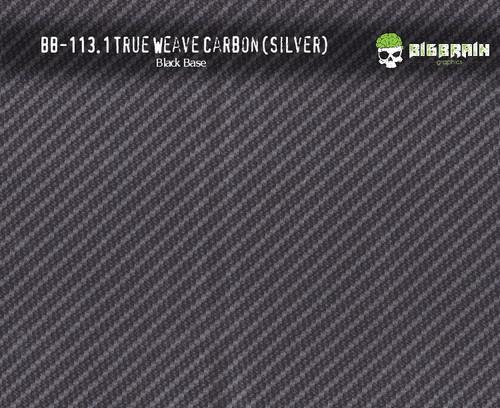 True Weave Silver Metallic Carbon Fiber Hydrographics Pattern Black Base Film Big Brain Graphics Buy