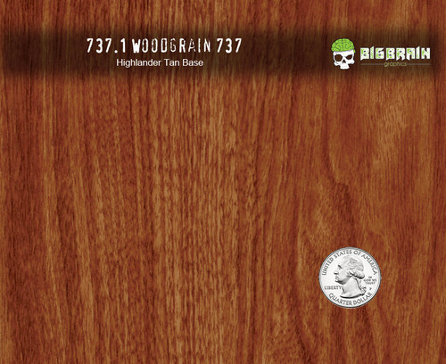 737 Fancy Realistic Straightgrain Detailed Straight Wood Woodgrain Big Brain Graphics Hydrographics Film Pattern Highlander Tan Base Quarter Reference