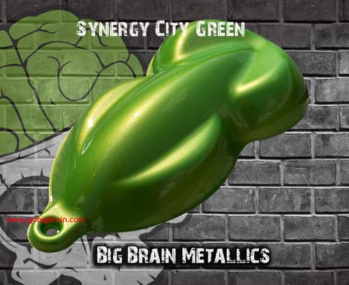 Synergy City Green Metallic Deep Metallic Shiny Look Big Brain Graphics Paint Coatings