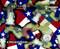 Texas Pride LoneStar State Flag Colorful Prideful Hydrographics Pattern Big Brain Graphics Mudjugs Design Yeti White Base Quarter Reference