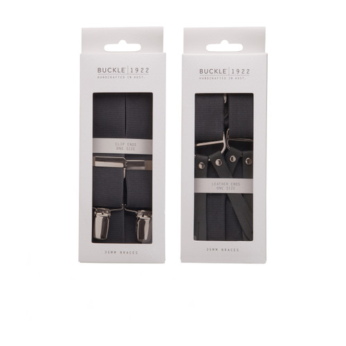 'nickel clips' and 'leather ends'