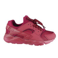 Emma Wine Red Lace Up Trainers