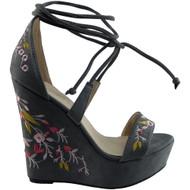 """""""UNICE"""" Grey Platform Wedge Shoes"""