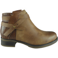 """""""DELLA""""  Camel Strap Chelsea Booties  Ankle Boots"""