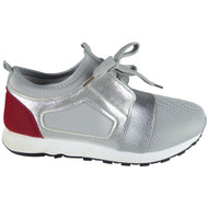 """""""EDREA"""" Grey  Fitness Gym Light Sports Comfy Lace Up Shoes"""
