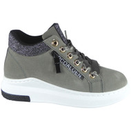 """DOORIYA"" Grey Lace Up Flat Trainers"
