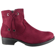 Wren Wine Zip Ankle Boots