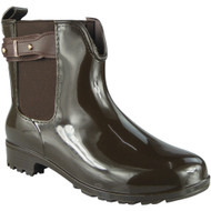 """RODEN"" Brown Cuban Heel Wellington Boots"