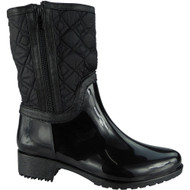 """ULIMA"" Black Mid Calf Wellington Boots"
