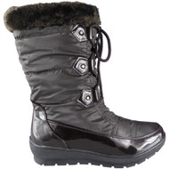 """""""PALOMA"""" Brown Snow Fur Lining Lace Up Ankle Boots"""