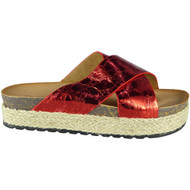 Peg Red Espadrilles Flat Slippers